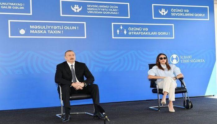 İlham Əliyev və Mehriban Əliyeva Bakıda modul tipli hospitalın açılışında